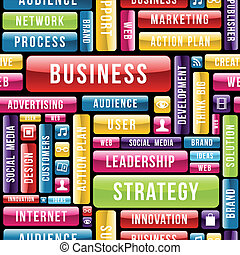 Business strategy concept pattern