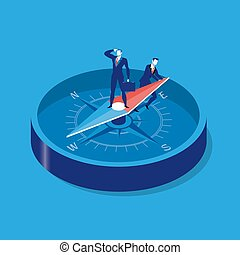 Business strategy concept vector illustration in flat style