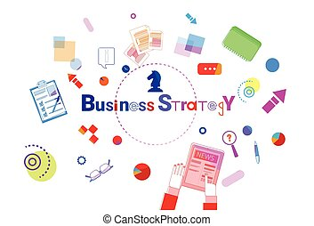 Business Strategy Development Concept Project Planning Banner