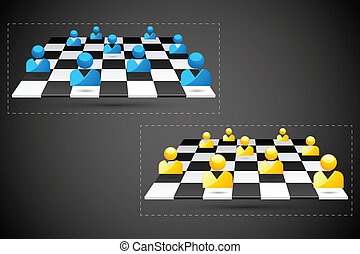 Business Strategy - easy to edit vector illustration of...