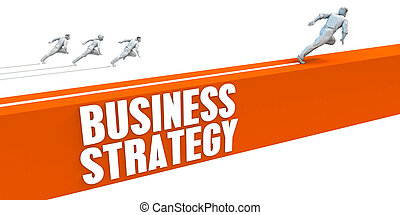 Business Strategy Express Lane with Business People Running