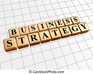 business strategy in golden cubes