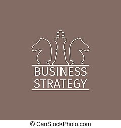 Business strategy logo with chess pieces