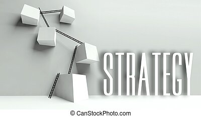 Business strategy metaphor conceptual illustration