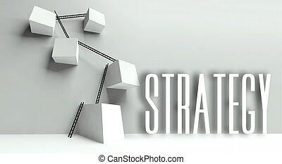 Business strategy metaphor conceptual illustration
