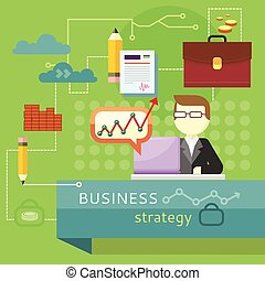 Business Strategy. Performance Analysis Banner