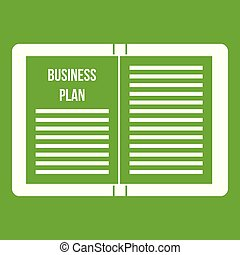 Business strategy plan icon green