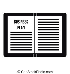 Business strategy plan icon, simple style