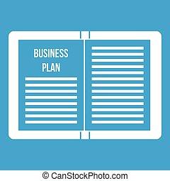 Business strategy plan icon white
