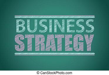 business strategy written on a blackboard
