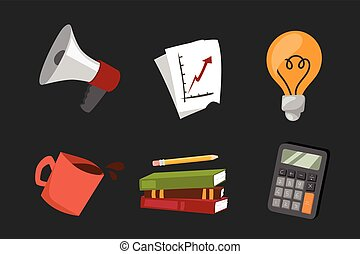 business stress isolated vector illustration