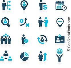 Business Structure - Azure - Vector icons for your web or ...