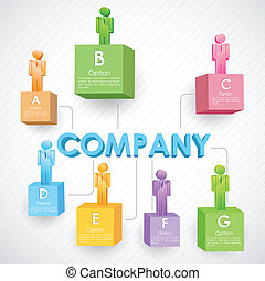 Business Structure - illustration of people standing on ...