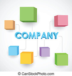 Business Structureillustration of different block for company business structure