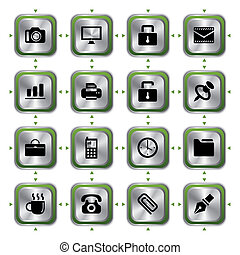 Business stylish icons set