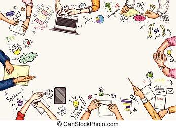 business success activity concept
