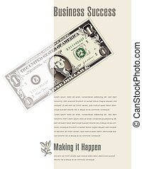Business Success ad with a dollar bill