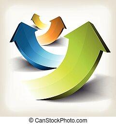 Business Success Arrows