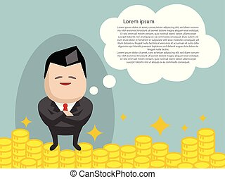 Business success cartoon vector illustration graphic design