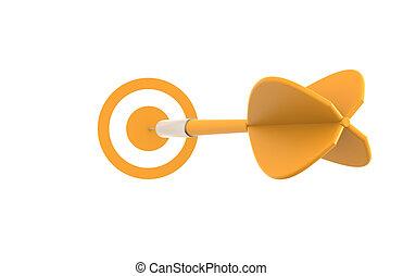 Business Success Concept, Bulls Eye