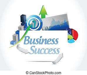 business success concept sign illustration design