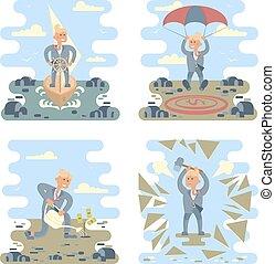 Business success concepts set
