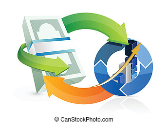 business success cycle illustration