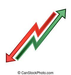 Business success graph