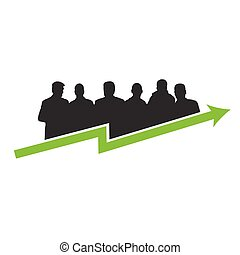 business success green vector illustration