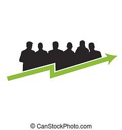 business success green vector illustration