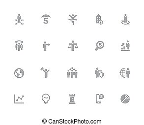 Business Success Icons // 32px White Series