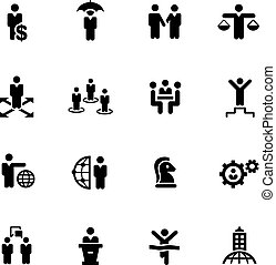 Business Success Icons -- Black Series