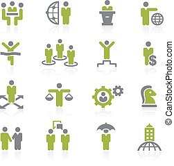 Business Success Icons. Natura