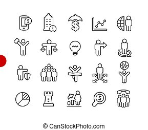 Business Success Icons // Red Point Series