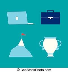 business success icons set