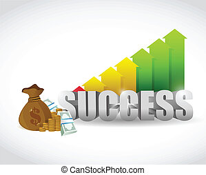 business success illustration design over a white background