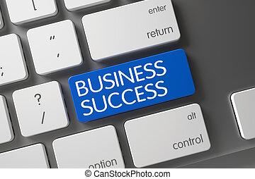 Business Success Keypad. 3D Illustration.