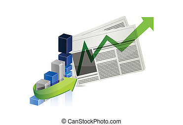 business success news illustration design