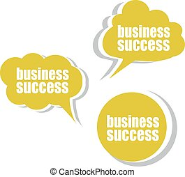 business success. Set of stickers, labels, tags. Business banners, Template for infographics vector