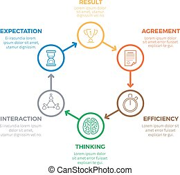 Business Successful Winning Infographic Concept