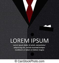 Business suit with a tie vector illustration background