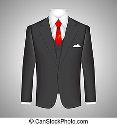Business suit concept with a vector illustration of a smart ...