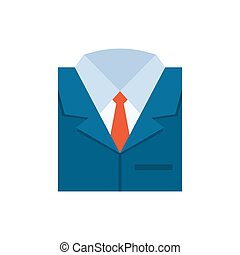 Business suit icon - flat vector illustration isolated on white background.
