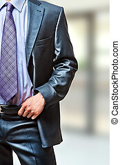 Unknown businessman - Business suit. Unknown businessman in...