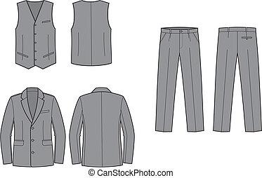 Business suit - Vector illustration of women's business...