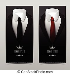 Business Suit Vertical Banners