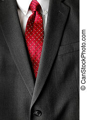 Business Suit White Shirt Red Tie Formal Wear Fashion