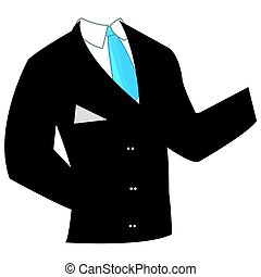 Business suit with tie