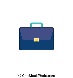 business suitcase flat style icon