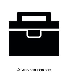 Business suitcase icon image vector illustration design